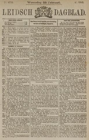 Leidsch Dagblad 1882-02-22