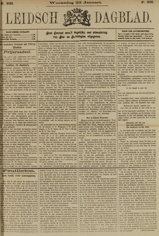 Leidsch Dagblad 1890-01-22