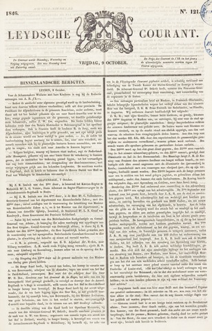 Leydse Courant 1846-10-09