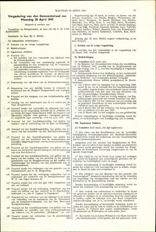 Handelingen van de Raad 1947-04-28