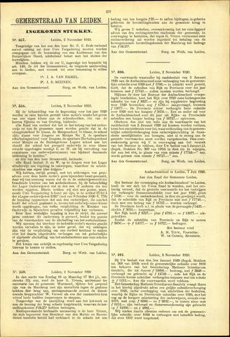 Handelingen van de Raad 1920-11-02