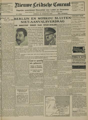Nieuwe Leidsche Courant 1939-08-22