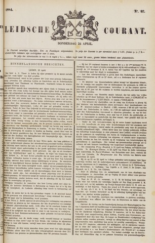 Leydse Courant 1884-04-24