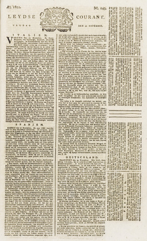 Leydse Courant 1822-11-29