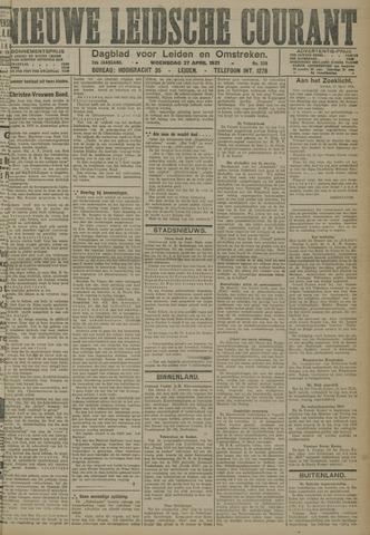 Nieuwe Leidsche Courant 1921-04-27