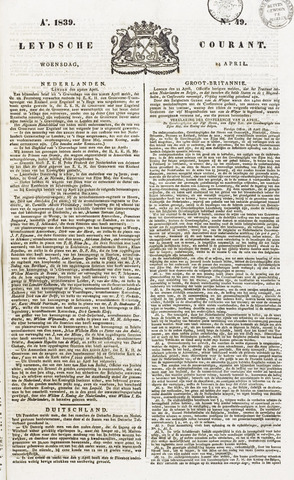 Leydse Courant 1839-04-24