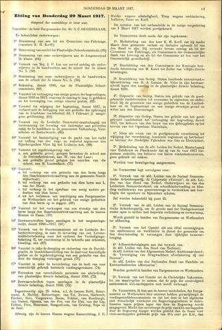 Handelingen van de Raad 1917-03-29
