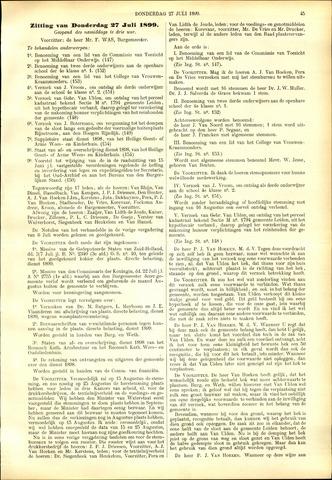 Handelingen van de Raad 1899-07-27