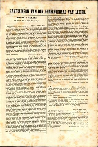 Handelingen van de Raad 1874-01-03