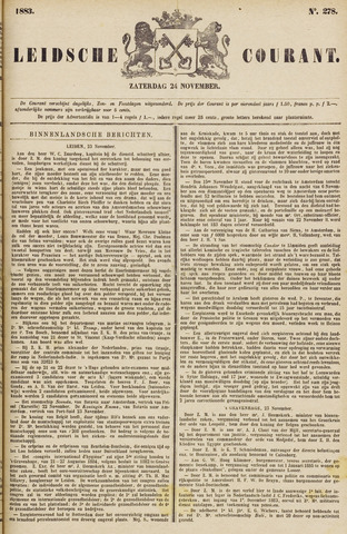 Leydse Courant 1883-11-24