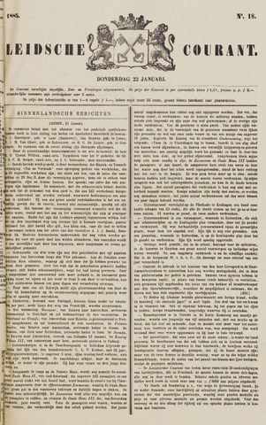 Leydse Courant 1885-01-22