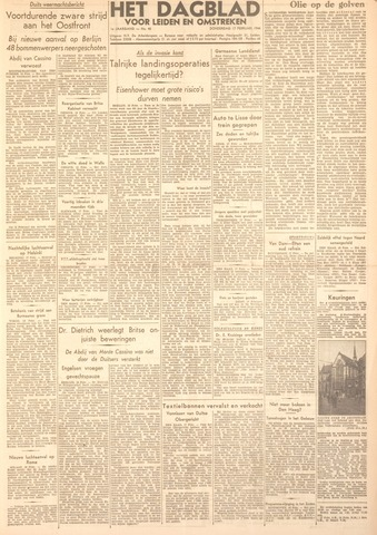 Dagblad voor Leiden en Omstreken 1944-02-17