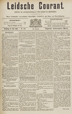 Leydse Courant 1885-07-31