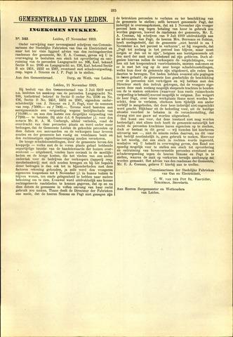 Handelingen van de Raad 1919-11-17
