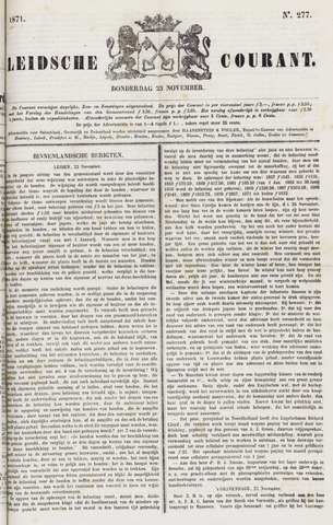 Leydse Courant 1871-11-23