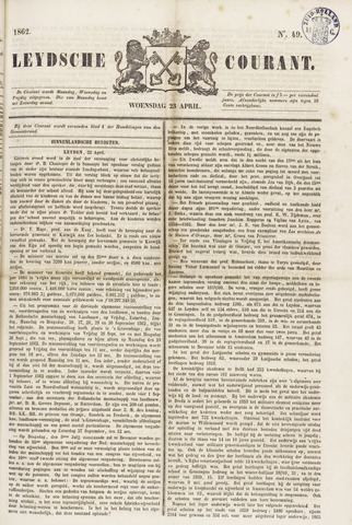 Leydse Courant 1862-04-23