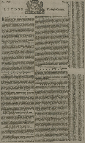 Leydse Courant 1749-04-11
