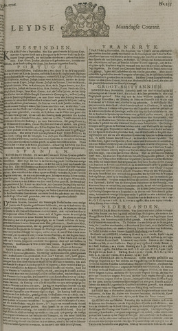 Leydse Courant 1726-11-11