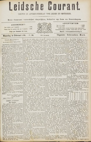 Leydse Courant 1890-02-10