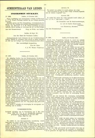 Handelingen van de Raad 1927-10-19