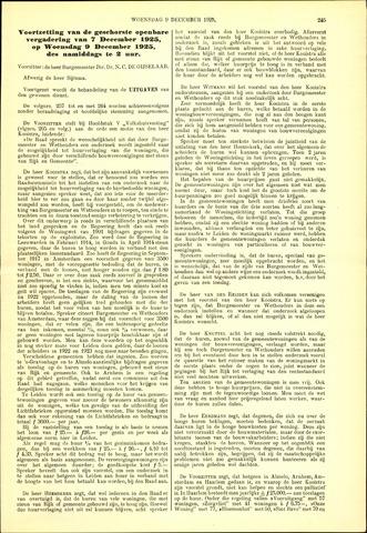 Handelingen van de Raad 1925-12-09