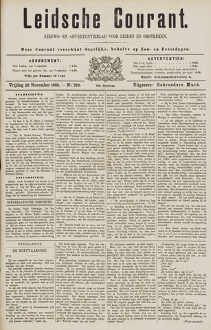 Leydse Courant 1885-11-20