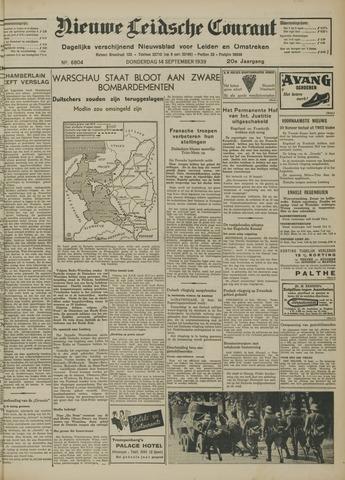 Nieuwe Leidsche Courant 1939-09-14