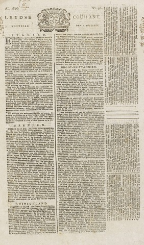 Leydse Courant 1820-08-02