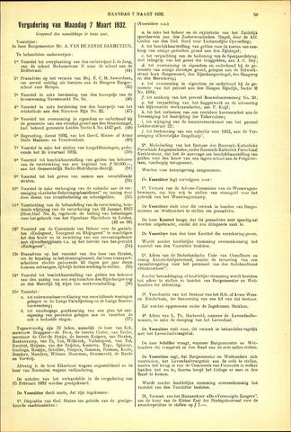 Handelingen van de Raad 1932-03-07