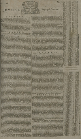 Leydse Courant 1743-03-29