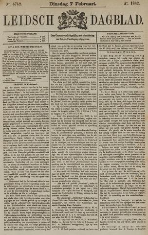 Leidsch Dagblad 1882-02-07