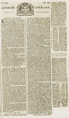 Leydse Courant 1825-11-18
