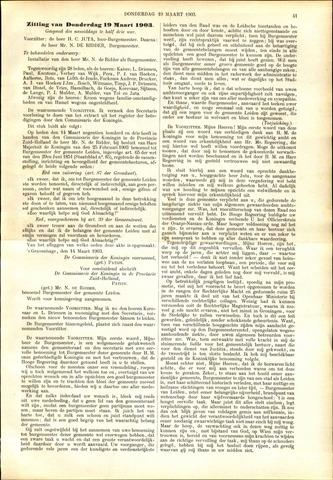 Handelingen van de Raad 1903-03-19