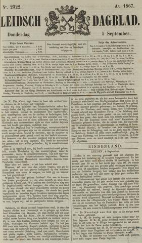 Leidsch Dagblad 1867-09-05