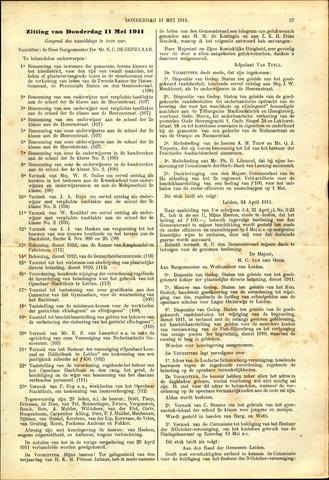 Handelingen van de Raad 1911-05-11