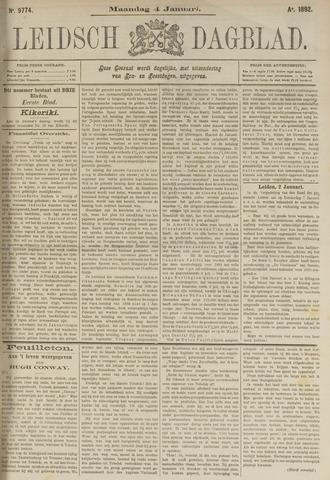 Leidsch Dagblad 1892-01-04