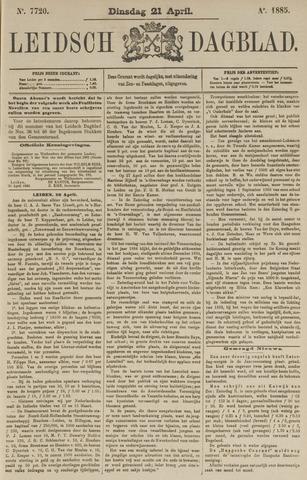 Leidsch Dagblad 1885-04-21