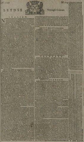 Leydse Courant 1749-10-03
