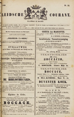 Leydse Courant 1884-03-24