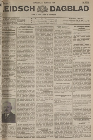 Leidsch Dagblad 1933-02-02