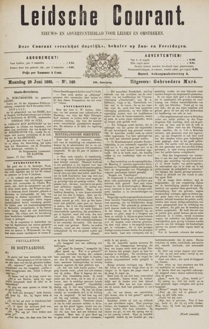 Leydse Courant 1885-06-29