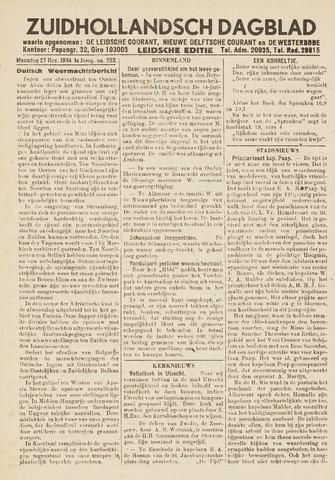 Zuidhollandsch Dagblad 1944-11-27