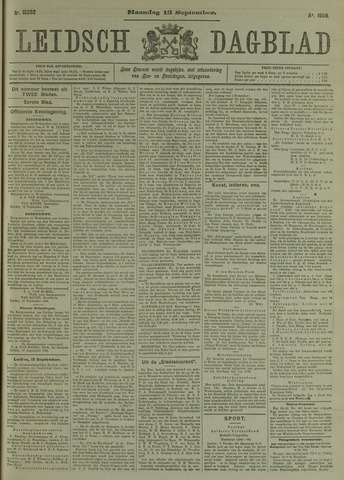 Leidsch Dagblad 1909-09-13