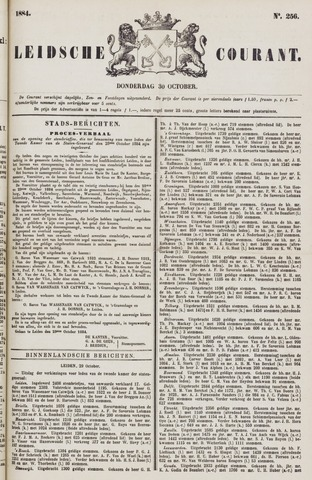 Leydse Courant 1884-10-30