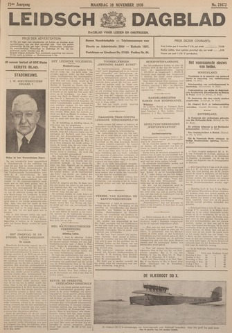 Leidsch Dagblad 1930-11-10