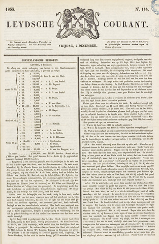 Leydse Courant 1853-12-02