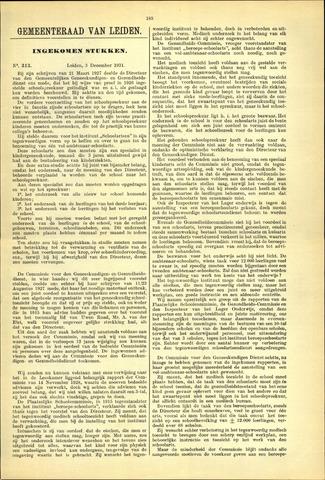 Handelingen van de Raad 1931-12-03