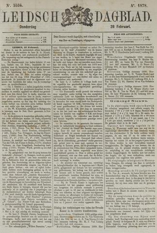 Leidsch Dagblad 1878-02-28