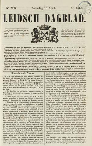 Leidsch Dagblad 1863-04-18