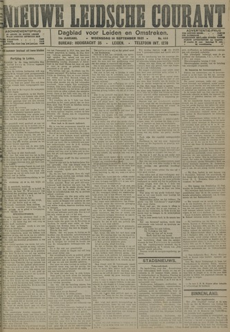 Nieuwe Leidsche Courant 1921-09-14